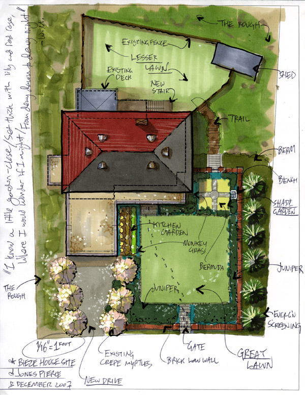 Site development plan of a house idea home and house Home site plan
